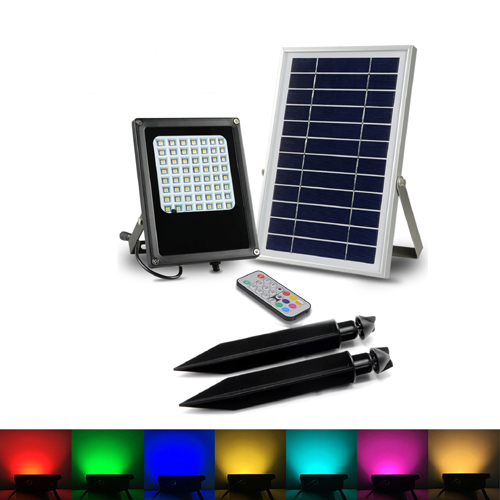 15W Solar RGB Flood Light