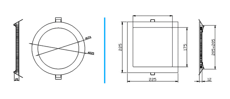 square-recessed-led-panel-light-size